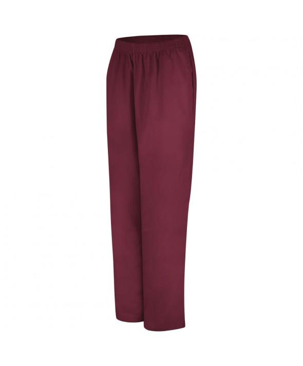 Red Kap 2P11BU Womens Easy Wear Poplin Slacks - Burgundy