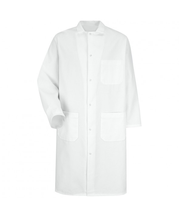 Red Kap 4004WH GripperFront Butcher Frock - White