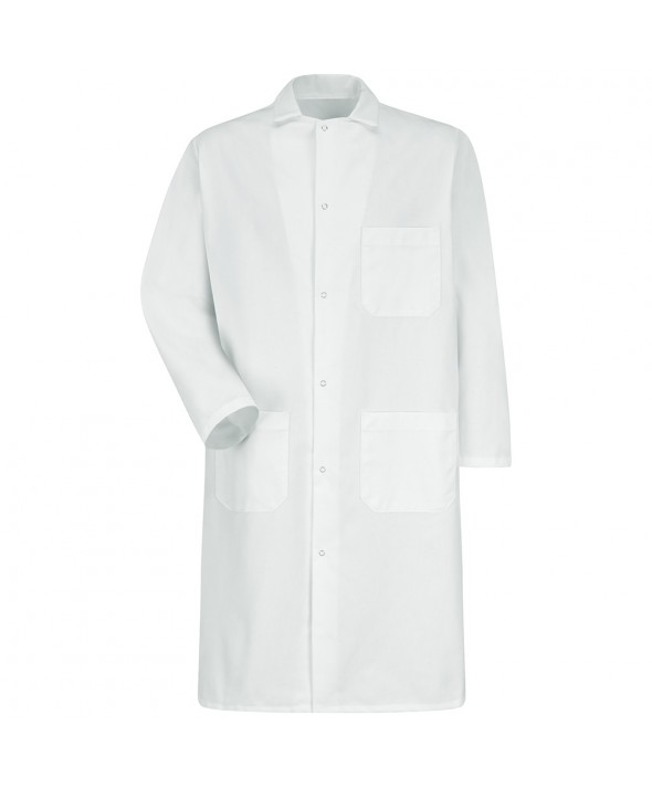 Red Kap 4016WH GripperFront Butcher Frock - White