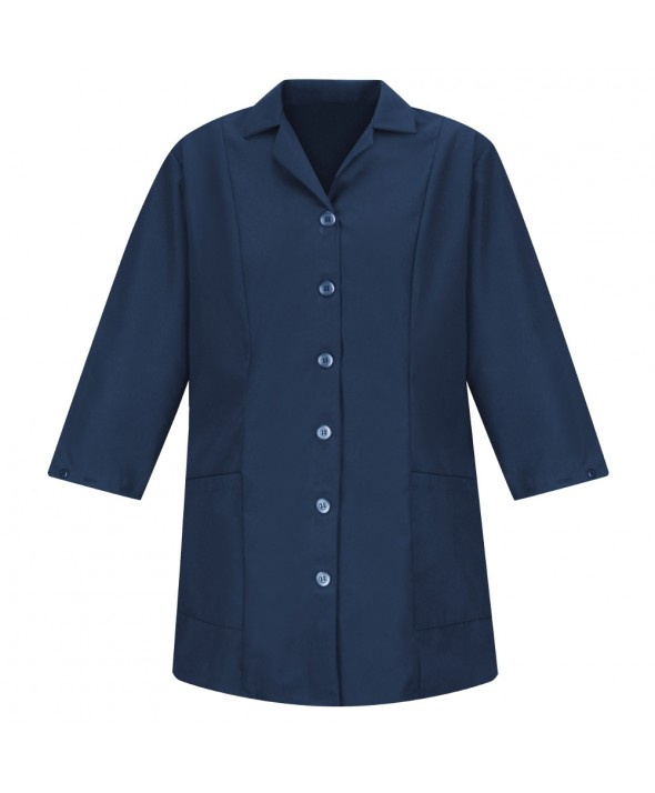 Red Kap TP11NV Womens Smock Fitted Adjustable Sleeve - Navy