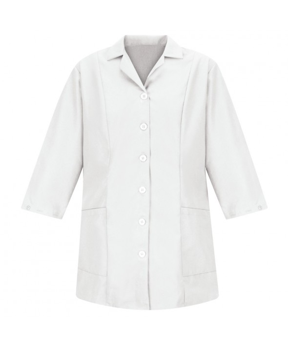 Red Kap TP11WH Womens Smock Fitted Adjustable Sleeve - White