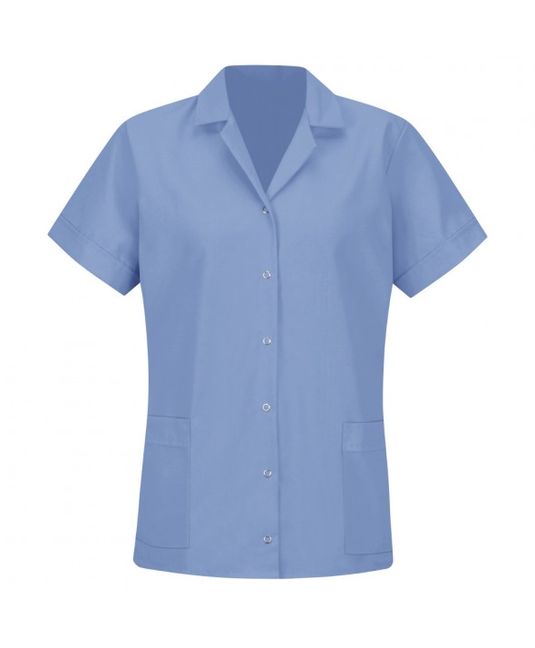 Red Kap TP27LB Womens Smock Loose Fit Short Sleeve - Light Blue