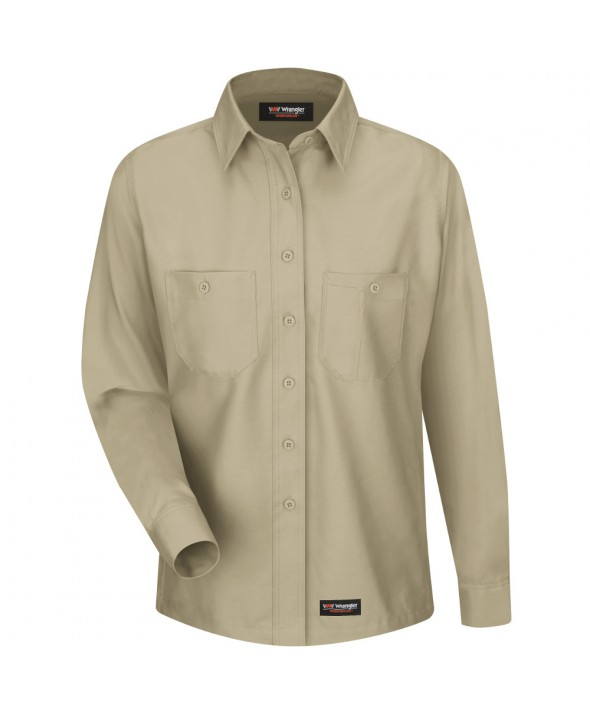 Wrangler Workwear WS11KH Womens Work Shirt - Khaki