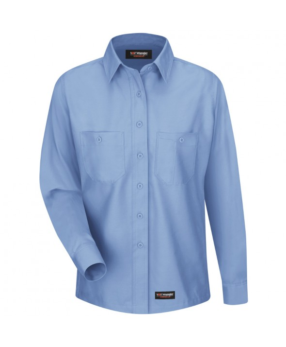 Wrangler Workwear WS11LB Womens Work Shirt - Light Blue