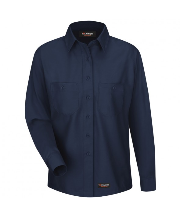 Wrangler Workwear WS11NV Womens Work Shirt - Navy