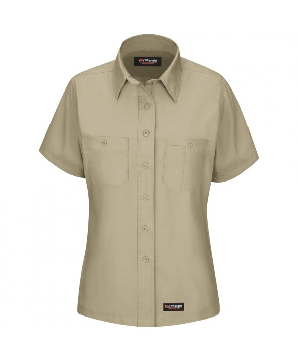 Wrangler Workwear WS21KH Womens Work Shirt - Khaki