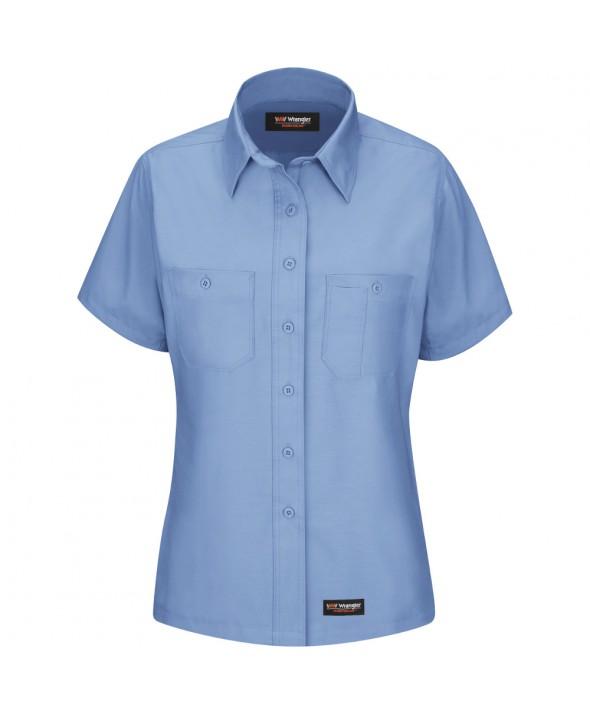 Wrangler Workwear WS21LB Womens Work Shirt - Light Blue